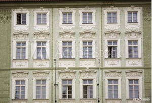 Picture of Old Building With Architectural Details; Prague, Czech Republic