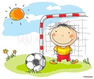 Picture of Boy playing football as a goalkeeper