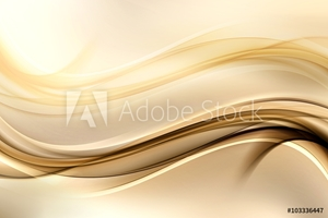 Picture of Abstract background with gold lines and waves. Composition of shadows and lights